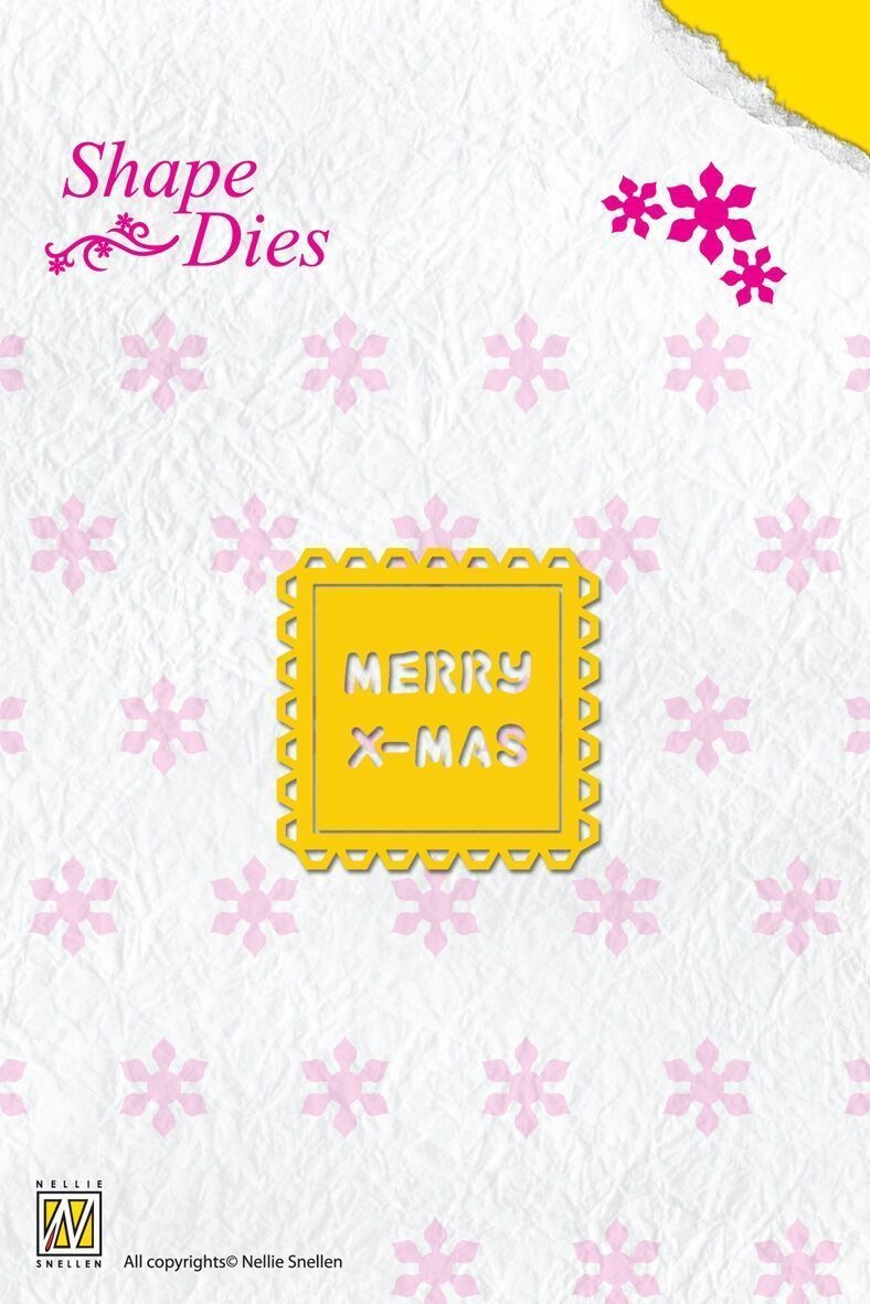 Shape Die Text - Merry Christmas