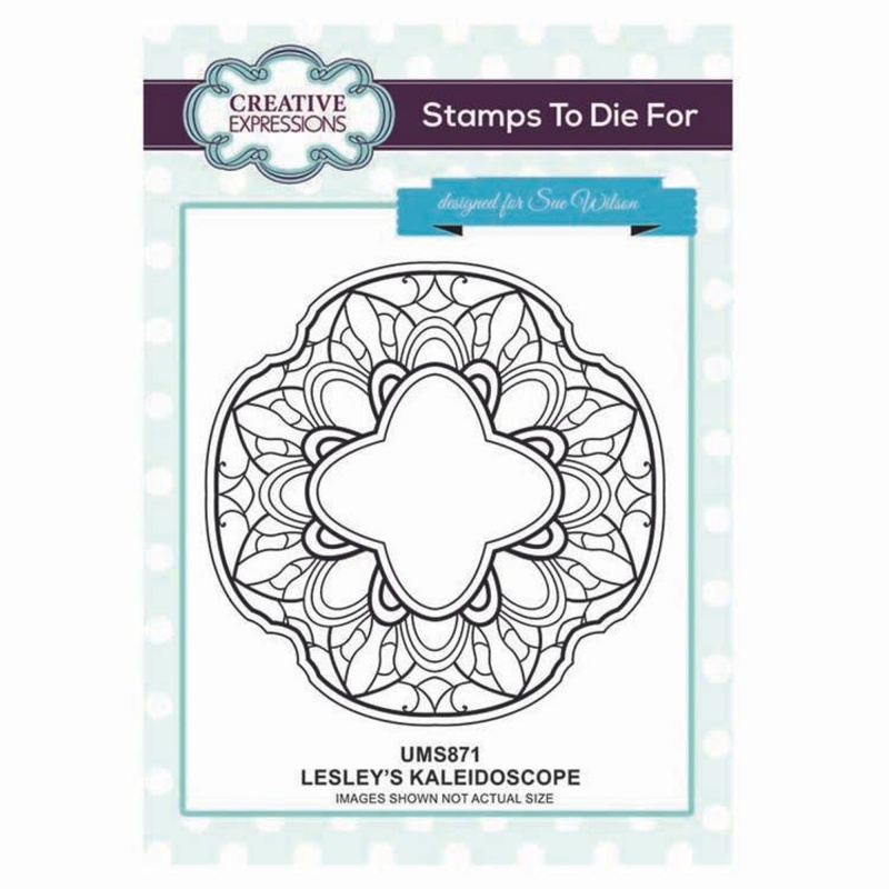 Creative Expressions Stamps To Die For Lesley's Kaleidoscope Pre Cut Stamp