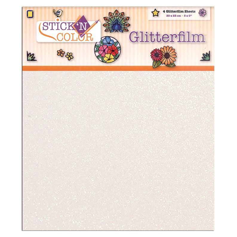 Stick 'n Color Glitter Sheets 4 Pcs