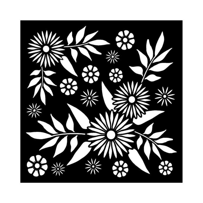 That Special Touch 6 X 6 Mask Decadent Daisies