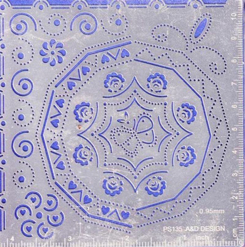 Parchment Craft Perforating Kit - Swirls And Circular Frame