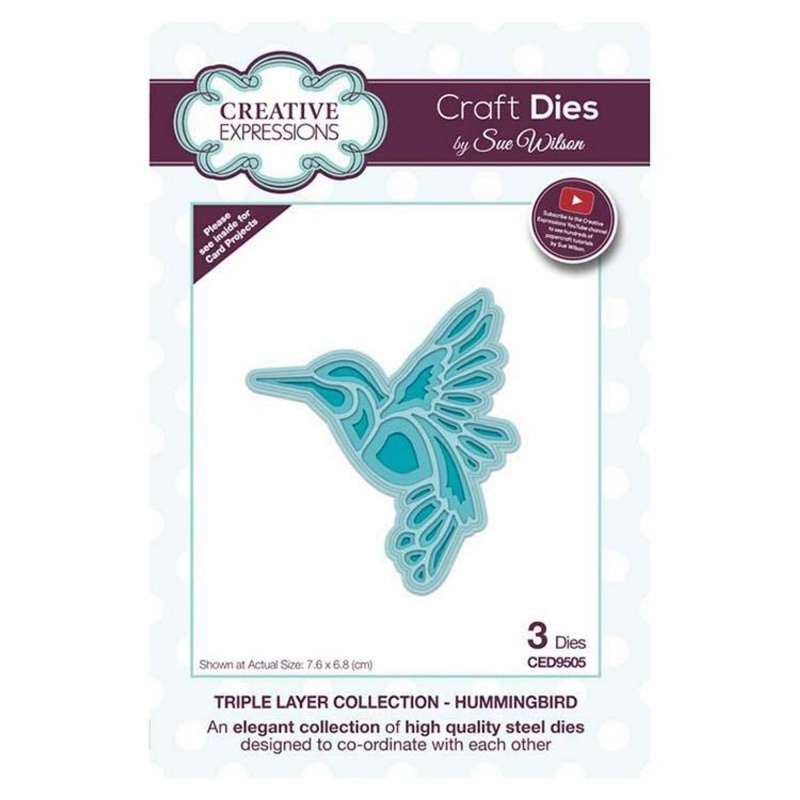 Creative Expressions Dies By Sue Wilson Triple Layer Collection Hummingbird