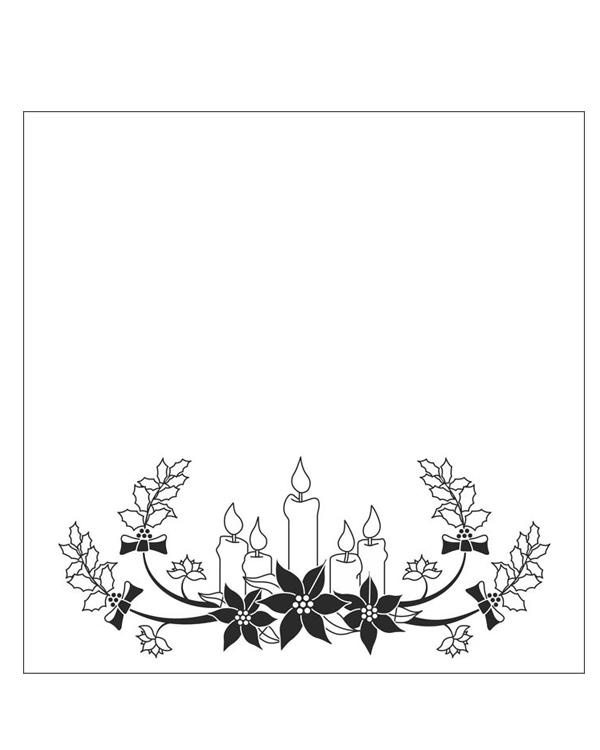 Embossing Folder - Christmas Candles