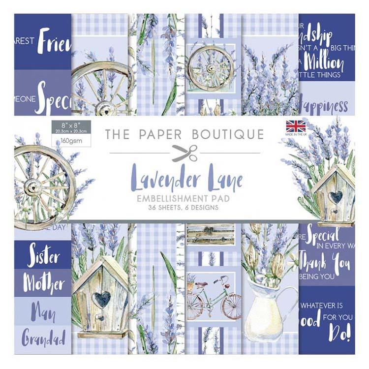The Paper Boutique Lavender Lane 8x8 Embellishments Pad