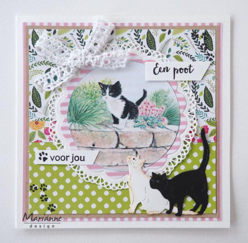 Marianne Design Cutting Sheet Tiny's Kittens