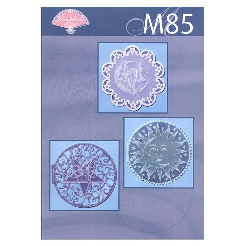 Pergamano Pattern Booklet M85 Sun, Stars And Moon