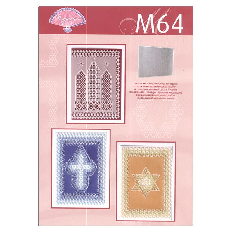 Pergamano Pattern Booklet M64 Grid Diagonal Patterns