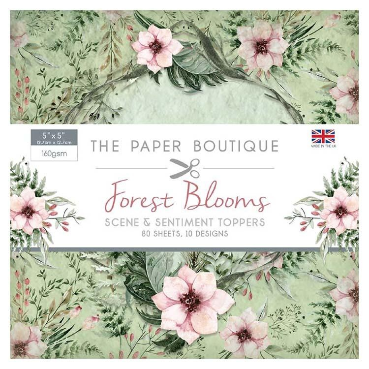 The Paper Boutique Forest Blooms 5x5 Sentiments Pad
