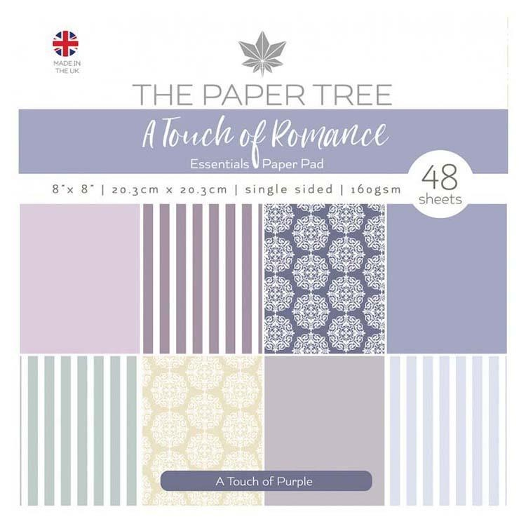 The Paper Tree A Touch Of Romance 8x8 Essentials Pad - A Touch Of Purple