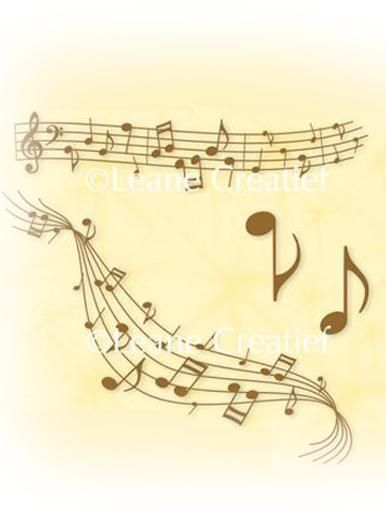 Lea'bilities Clear Stamp - Musical Symbols