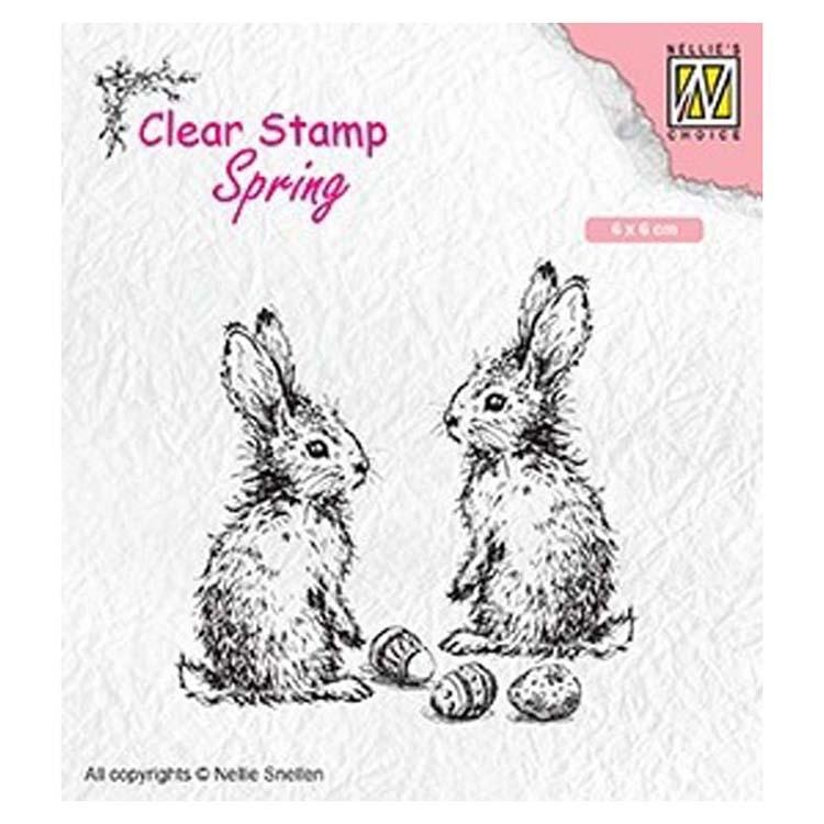 Nellie's Choice Clear Stamp Spring Two Hares