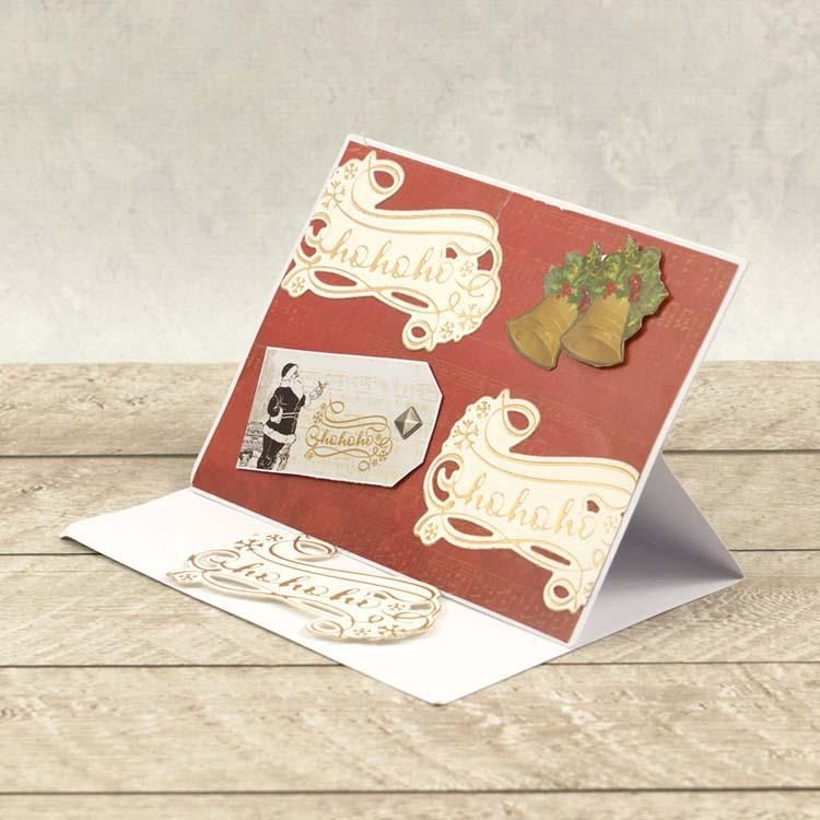 Couture Creations Ho Ho Ho Sentiment Cut, Foil And Emboss Die