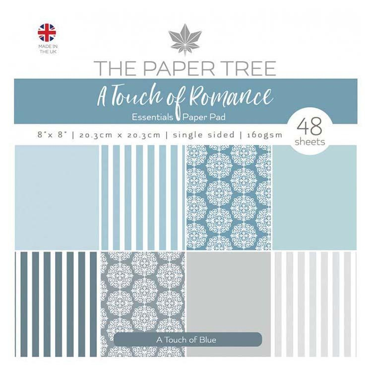 The Paper Tree A Touch Of Romance 8x8 Essentials Pad - A Touch Of Blue