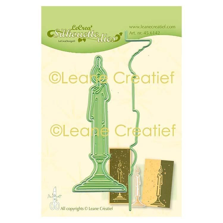 Leabilitie Candle Silhouette Cut And Embossing Die
