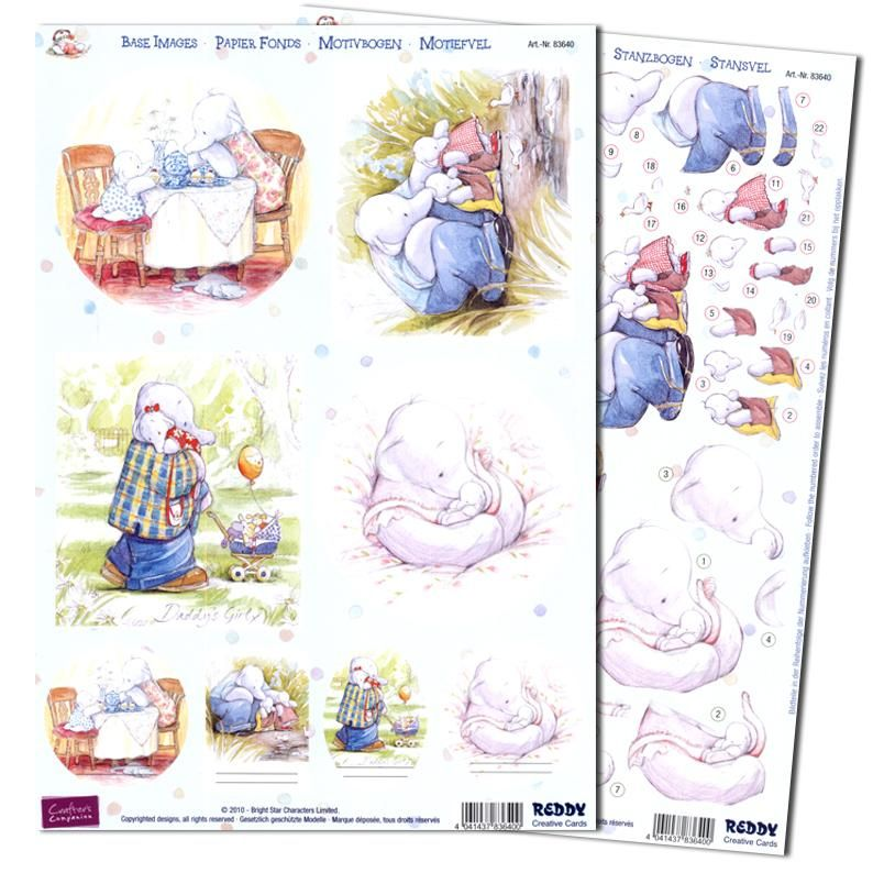 Humphrey The Elephant Precut 3d Bundle 22 A4 Sheets