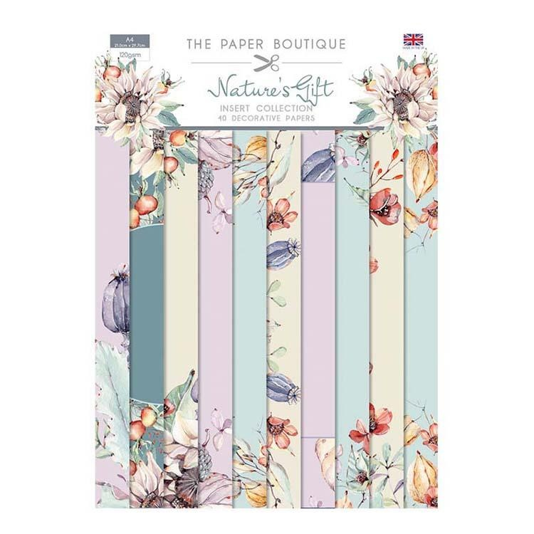 The Paper Boutique Nature's Gift Insert Collection A4 40 Sheets 10 Designs 120gsm