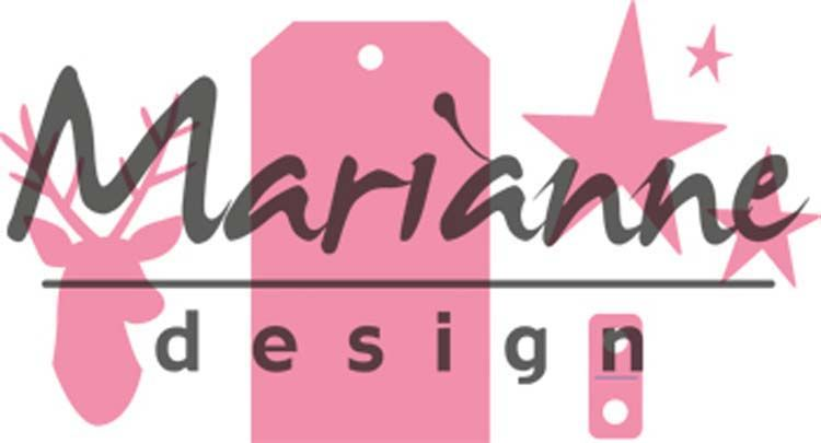 Marianne Design Collectables Giftwrapping - Karin's Deer, Stars & Tag