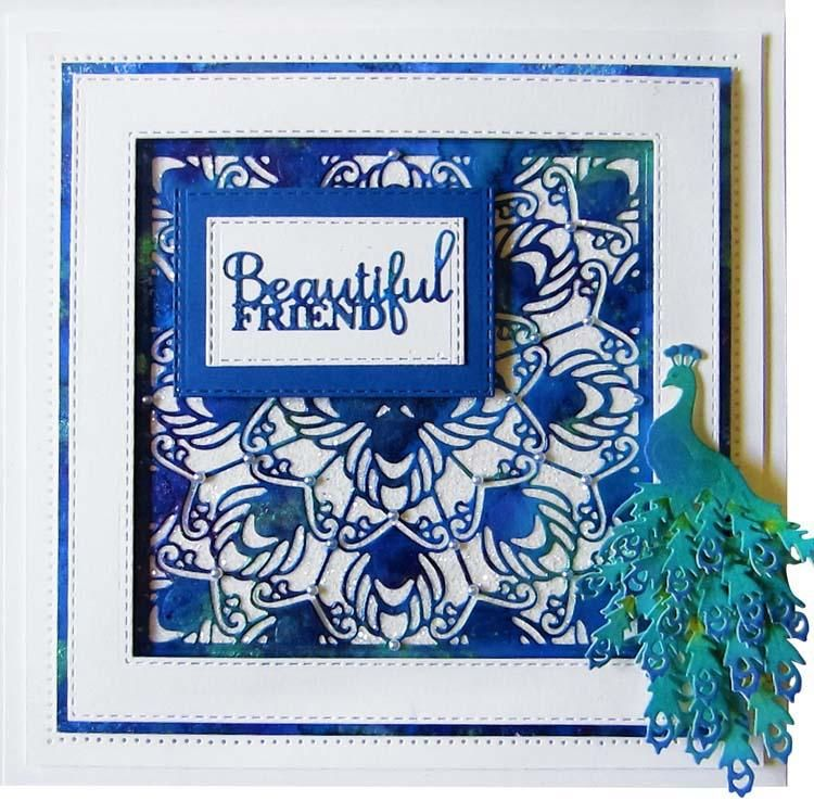 Dies By Sue Wilson Necessities Collection Proud Peacock
