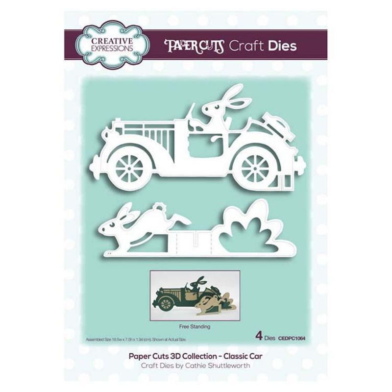 Creative Expressions Paper Cuts 3D Collection - Classic Car