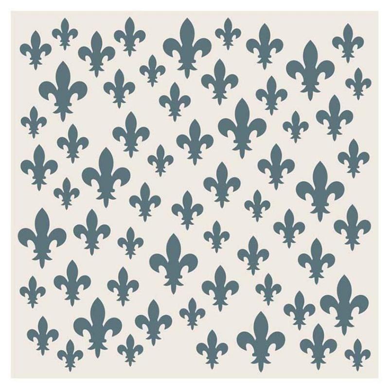 Sentimentally Yours Scattered Fleur De Lis 8 X 8 Stencil