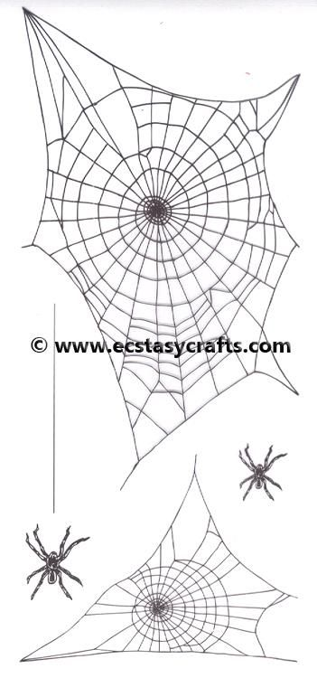 Marianne Design Clear Stamp: Tiny's Border: Spider Web
