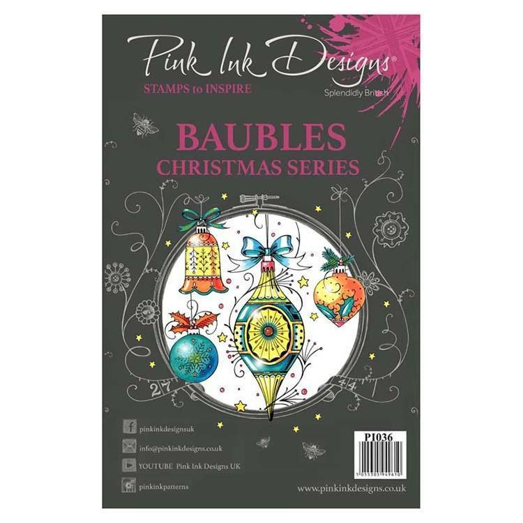 Pink Ink Designs Clear Stamp Baubles