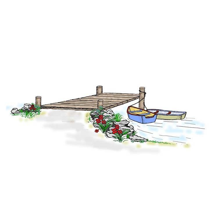 Frog's Whiskers Ink Stamp - Dock & Boats