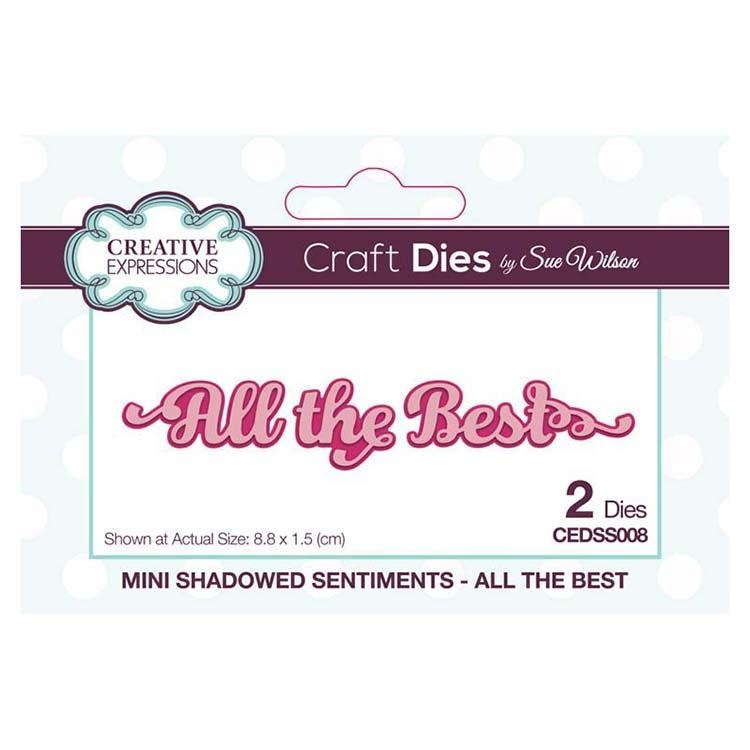 Creative Expressions Dies By Sue Wilson Mini Shadowed Sentiments All The Best