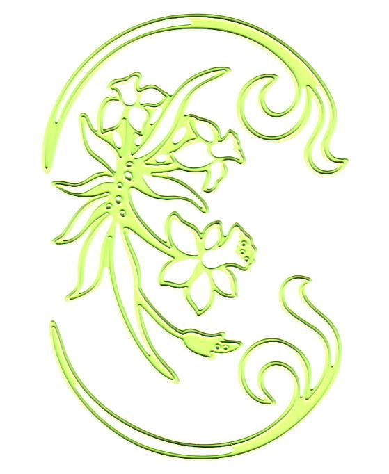 Lea'bilities Daffodil And Swirls Embossing And Cutting Die