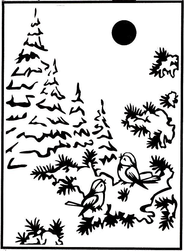 Picture Embossing Folder - Snow Birds