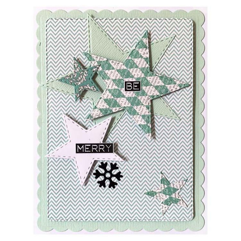 Creative Expressions Stitched Collection Layered Stars Craft Die