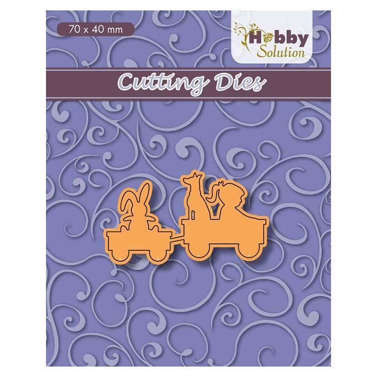 Hobby Solution Cutting Dies Girl And Dog In Go-cart