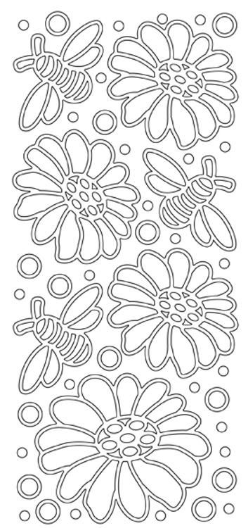 Peel-off Stickers - Flowers And Bees