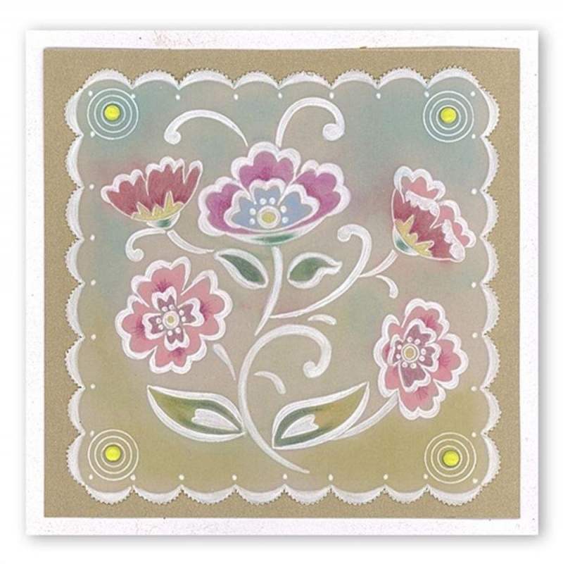 Lace Flowers A5 Square Plate