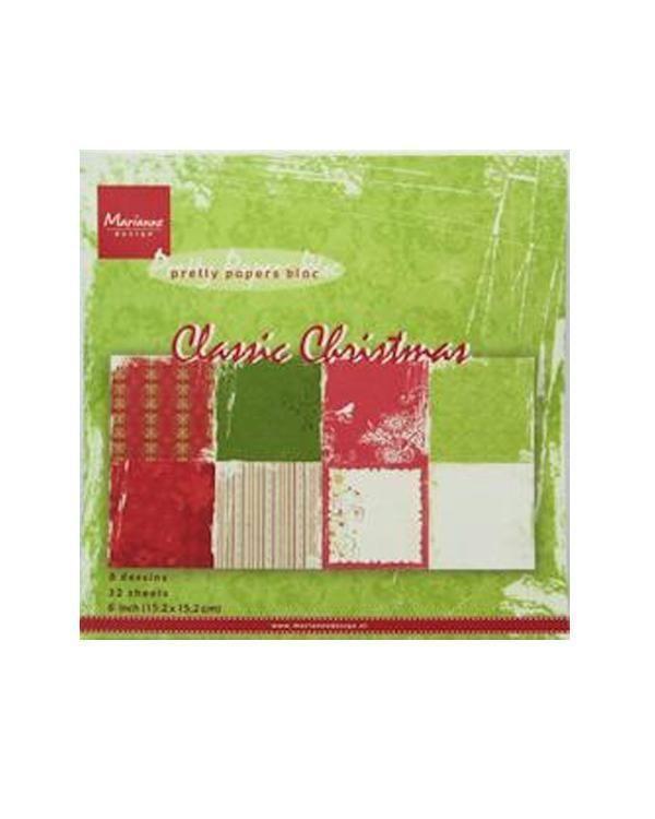 Marianne's Paper Bloc - Classic Christmas