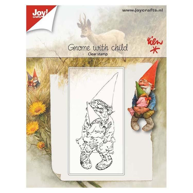 Joy! Crafts Clear Stamp - Gnome With Child
