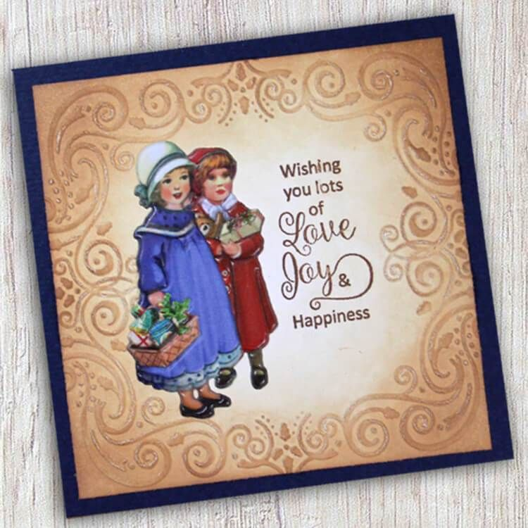 Embossing Folder - Christmas Square-1