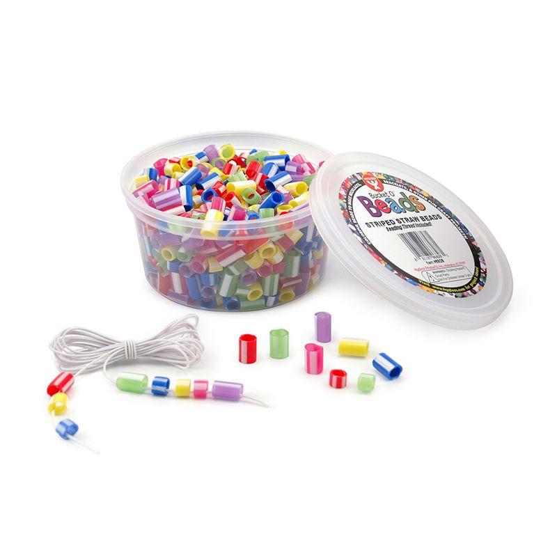 Striped Straw Beads