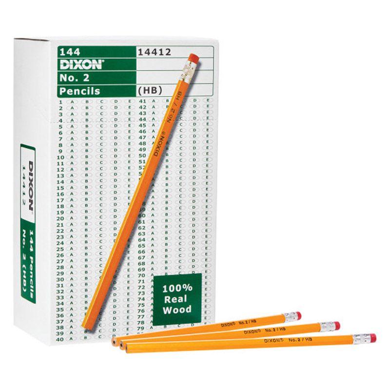Dixon No 2 Pencils Yellow 144bx