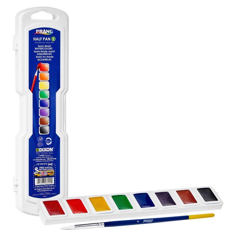 Profess Watercolors Half Pan Set With Brush Prang