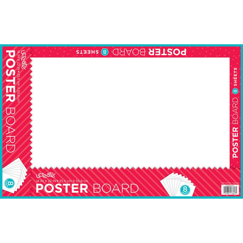 Poster Board White 8 Sheets 24/ct 14x22