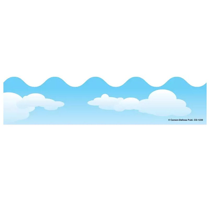 Border Clouds Scalloped