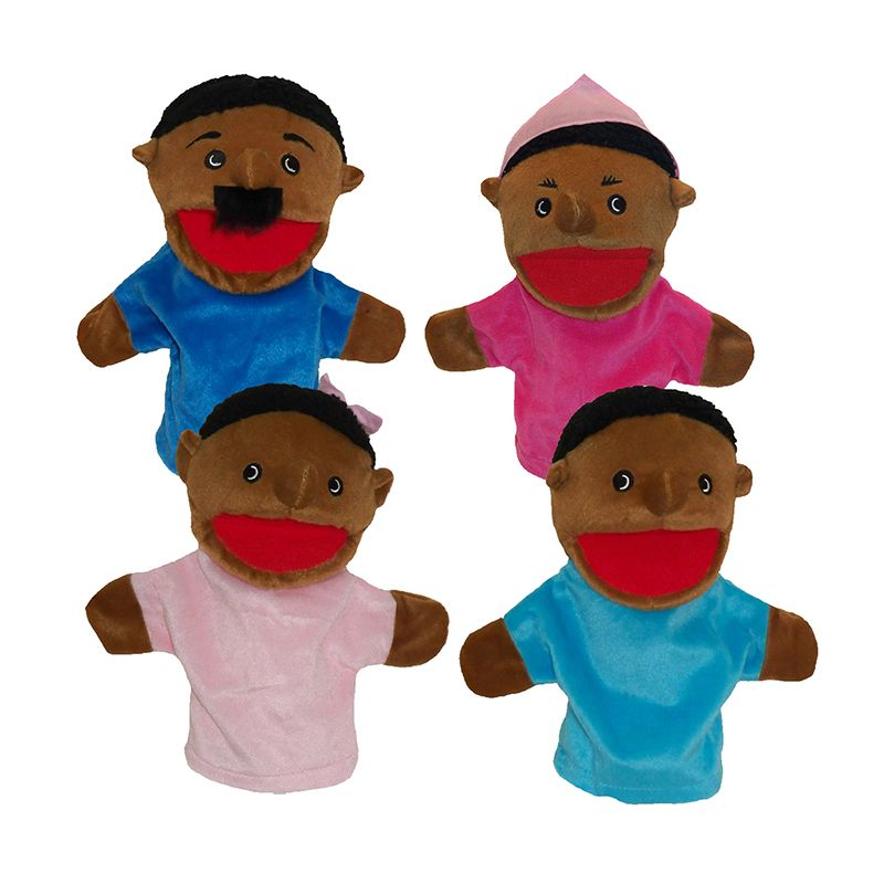 Family Bigmouth Puppets African American Family Of 4