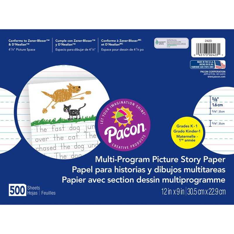 Picture Story Paper 500 Sht 12 X 9 5/8 In Long Rule