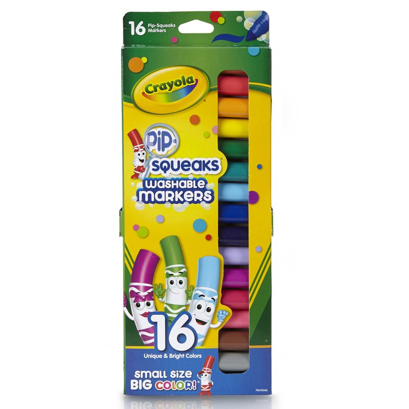 Pip Squeaks Markers 16 Ct Short Washable In Peggable Pouch