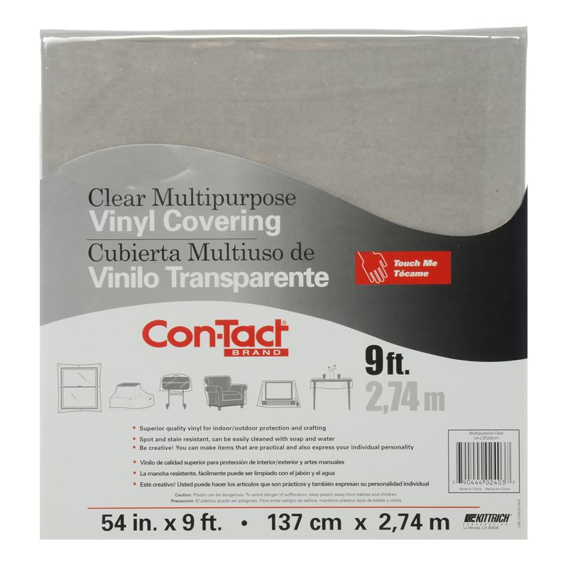 Contact Clear Vinyl Covering Multipurpose