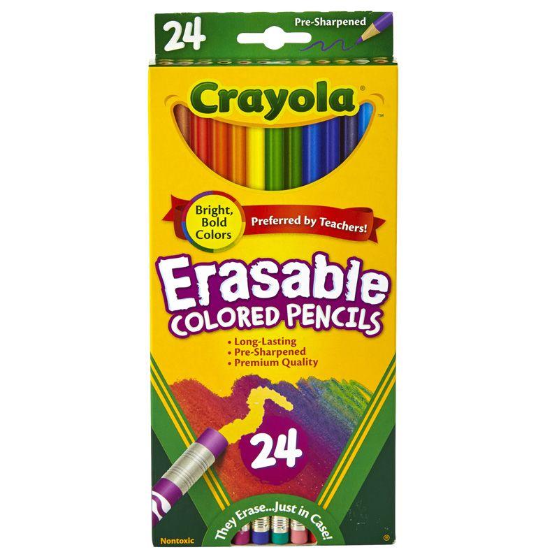 24 Ct Erasable Colored Pencils