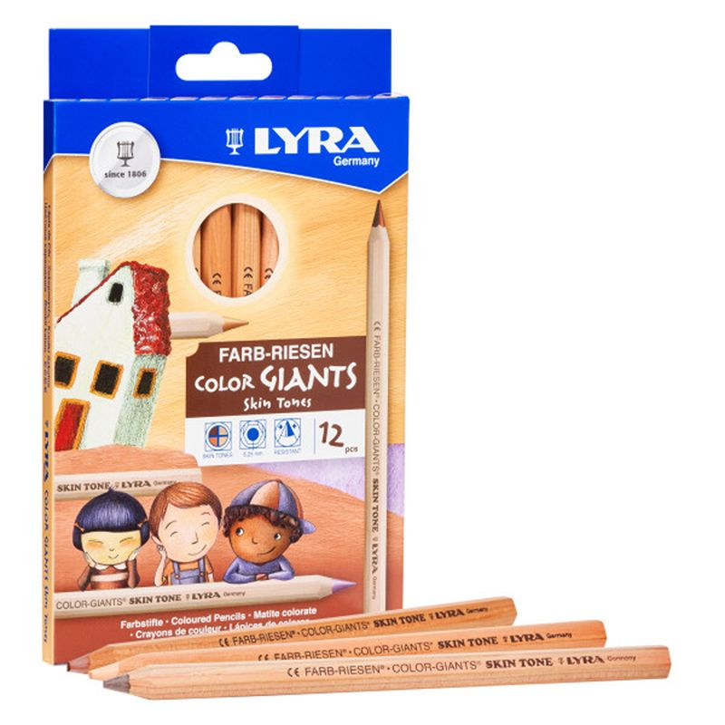 Giant Color Pencils Skin Tones 12pk Lyra Color