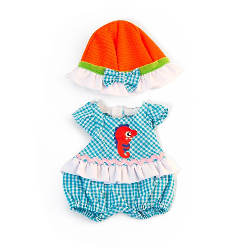 Doll Clothes Warm Weather Romper/ Hat Set