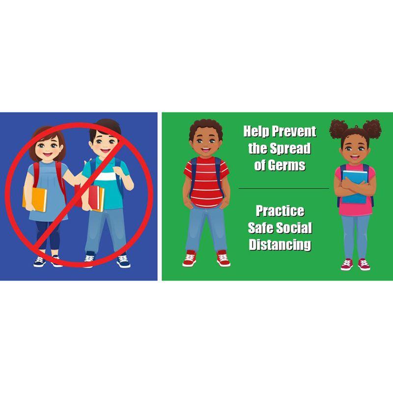 Kids Social Distance Floor Stickers 5pk